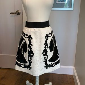 Dolce & Gabbana silhouette skirt